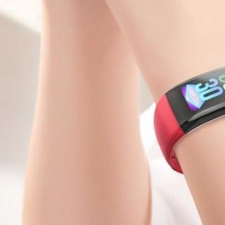 OLOEY zFQbNNTA 智能手环 中国红 硅胶表带(血压、心电图)