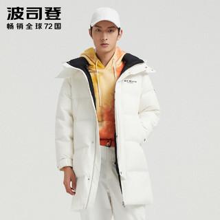 波司登羽绒服男士中长款可脱帽时尚经典外套B00145451(205/116A、预售-黑色8056)