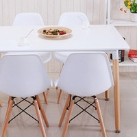 TIMI 天米 伊姆斯简约餐桌椅(1.2m餐桌+4把伊姆斯椅子)
