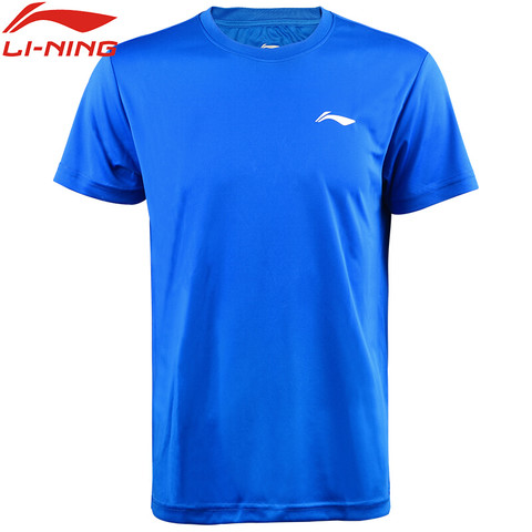 LI-NING 李宁 李宁lining瑜伽服短袖T恤夏季圆领速干透气休闲健身跑步运动服AHSN945-3/ATSP503-3 蓝色 XL码 男款