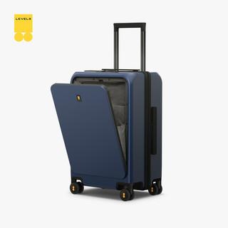 地平线8号(LEVEL8)行李箱前开盖拉杆箱 20英寸万向轮登机箱 男女商务前开口旅行箱蓝色 ONE TOUCH前开门箱