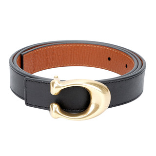 COACH 蔻驰 蔻驰 COACH 奢侈品 女士专柜款百搭双面皮质腰带皮带黑色配棕色礼物 78176 B4OH1-S