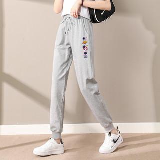 KOJOM 女士休闲长裤子夏季新款潮流束脚休闲裤宽松百搭时尚舒适工装长裤