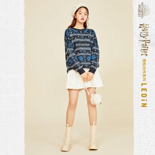 【哈利波特联名】乐町针织衫2020秋冬新款女装复古学院风毛衣外套(L、暗红色 全码预计11月30日发)