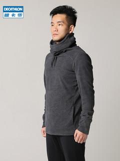 迪卡侬瑜伽上衣男健身运动跑步长袖瑜伽服冬季暖瑜伽健身服EYYM(S、深灰色)