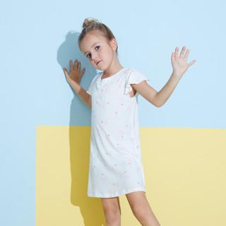 Aimer 爱慕 爱慕儿童内衣女童睡衣家居服蕾丝短袖袖睡裙
