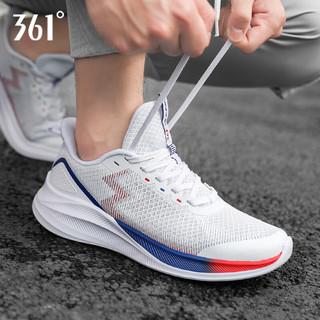 361° 361度 361男鞋运动鞋休闲鞋子2021夏季跑步鞋透气户外减震慢跑鞋老爹鞋 -1度白/星球蓝 42