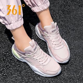 361° 361度 361女鞋运动鞋女春季跑步鞋耐磨网面透气休闲慢跑鞋子