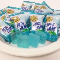 徐福记薄荷糖480g清凉润喉网红糖果清新口气香体糖批发