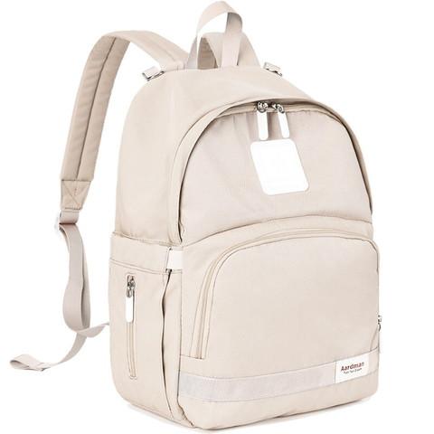 aardman  妈咪包多功能大容量双肩妈咪包便携母婴包外出背包HY-1818米白色