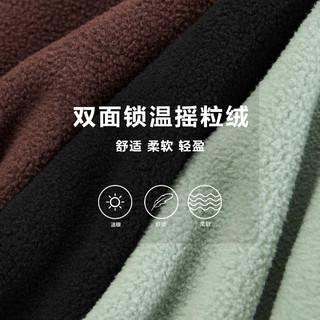 太平鸟男装 摇粒绒家居服纯色运动套装男士保暖衣服秋冬新款套装(M、黑色下装1)