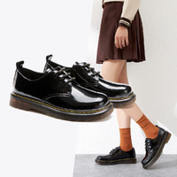 AOKANG 奥康 奥康女鞋 春季学院日系制服鞋系带女单鞋