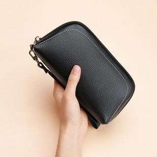 Mexican 稻草人 新款头层牛皮女士长款钱包女时尚手包零钱卡包小包气质皮夹手拿包