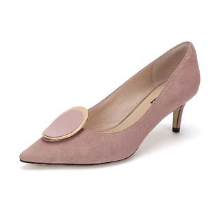 DAPHNE 达芙妮 A03004 圆扣女士高跟鞋