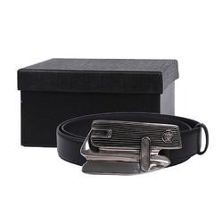 VERSACE 范思哲 范思哲 VERSACE 奢侈品 男士牛皮革美杜莎装饰板扣皮带腰带礼盒 黑色 DCU7982 DVTP1 D41IP 95cm