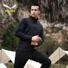 salewa沙乐华防风外套男士2021春季新款防水立领休闲开衫运动服 黑花灰 3XL