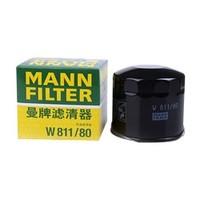 MANNFILTER 曼牌滤清器 W811/80 机油滤清器