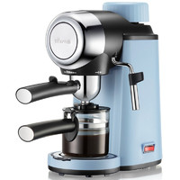 小熊(Bear)咖啡机 意式浓缩家用半自动泵压式高压萃取蒸汽可打奶泡咖啡机 KFJ-A02N1 一键泄压+萃取与打奶泡合一