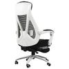 HBADA 黑白调 悠悦系列 人体工学电脑椅 白色 带脚托款