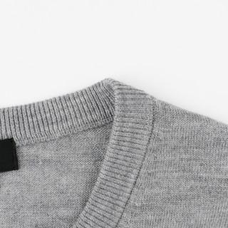 优衣库 男装 精纺美利奴圆领针织衫(长袖) 419190 UNIQLO(160/76A/XS、09 黑色)
