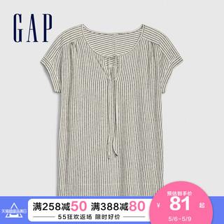 Gap 盖璞 Gap女装简约条纹短袖T恤577525 夏季新款时尚宽松休闲上衣女