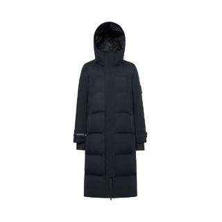 波司登新款GTX INFINIUM™防风透气街头风连帽款女保暖羽绒服纯色