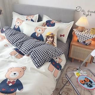 PLAYBOY 花花公子 亲肤四件套被套被单床上用品单人学生宿舍被子套件三件套床单4件
