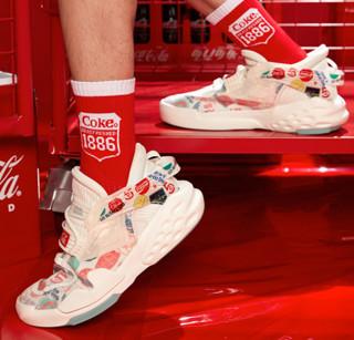 ANTA 安踏 霸道系列 可口可乐联名款 男子休闲运动鞋 11948088-11 白/红/蓝/绿/黄 40.5