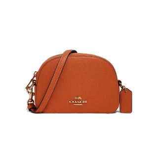 COACH 蔻驰 Serena系列 女士牛皮革斜挎盒子包 97561 橘色 小号