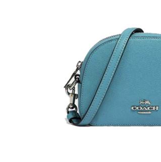 COACH 蔻驰 Serena系列 女士牛皮革斜挎盒子包 97561 蓝色 小号