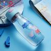 泰福高(TAFUCO)泰迪熊卡通塑料杯可爱运动旅行学生便携随手卡通防漏水杯子大容量550ML 4691佩奇蓝 550ML