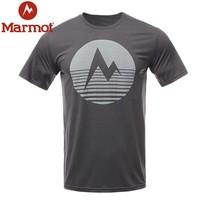 Marmot 土拨鼠  H44253 男士棉感速干短袖T恤