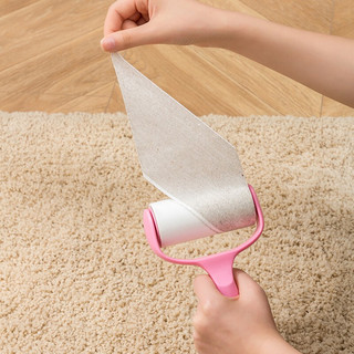 惠寻 可撕式粘毛器1个手柄+3卷纸除毛器衣物衣服黏滚筒刷