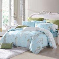 MENDALE 梦洁家纺 40支全棉透气套件床单被套枕套床上用品单人三件套双人纯棉四件套