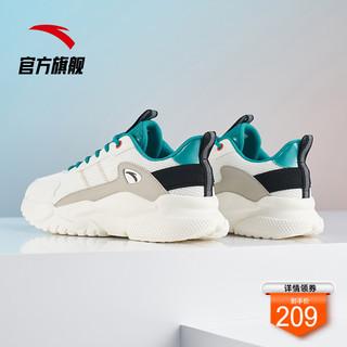 ANTA 安踏 安踏休闲鞋男士2021夏季新款网面透气时尚百搭运动鞋子官方旗舰