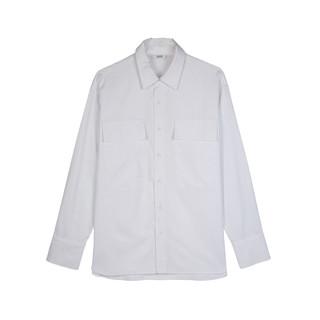 hotwind 热风 新款男士工装大口袋衬衫经典翻领长袖上衣男