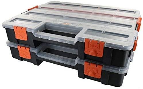 TACTIX 拓为 2件联锁塑料整理盒