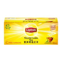 立顿红茶黄牌精选红茶50包/盒