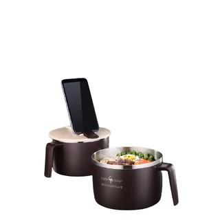 ssgp 叁肆钢 不锈钢泡面碗 带盖+勺筷