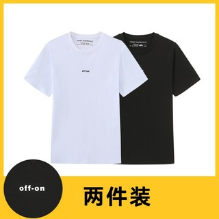 MARK FAIRWHALE/马克华菲  A1400201027036 圆领基础T恤 2件装 黑色XL