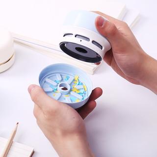 得力(deli)电动削笔器 /削笔机 /橡皮/迷你桌面吸尘器 电动清洁器 绿色