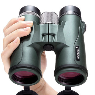 美国USCAMEL望远镜双筒高倍高清户外寻蜂旅游观景军工演唱会手机拍照用双直筒款微光夜视 077军绿色10*42超清款