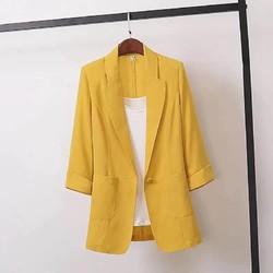 亚麻小西装女外套薄款2021春夏大码棉麻西服韩版宽松休闲英伦风女