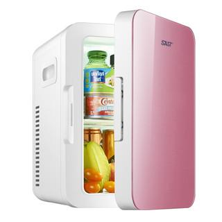 SAST先科 8L迷你车载家两用冰箱家用寝室学生制冷单人宿舍小型冰箱 8L普通皓月白(车家两用)