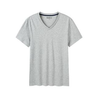 V领净色T恤
