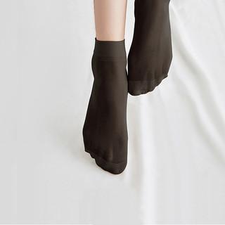 精典泰迪Classic Teddy 40双装短丝袜女袜女士袜子爆款超薄面膜钢丝袜短袜丝袜黑色