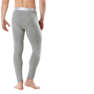 VIEKUCOOL 男士保暖打底裤 VK002 不加绒 2条装(黑色+灰色) 3XL