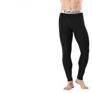 VIEKUCOOL 男士保暖打底裤 VK002 加绒 黑色 XL