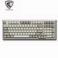 有券的上:FL·ESPORTS 腹灵 FL980 CPS 有线机械键盘 BOX红轴 98键 复古经典灰白配色