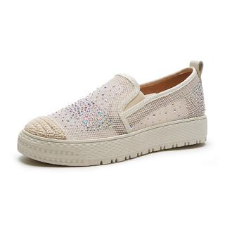 hotwind 热风 21年夏新款女士浪漫亮片休闲鞋乐福鞋女滑板鞋女平底单鞋女鞋